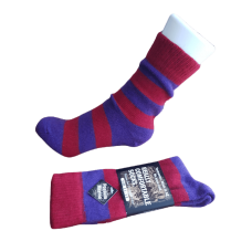 Possum Fur & Merino Wool Socks - Purple & Red Stripe