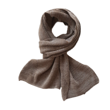 Pure Merino Wool Long Scarf - Taupe
