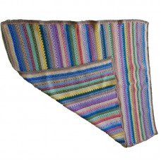Hand Crochet Multi Stripe Rug
