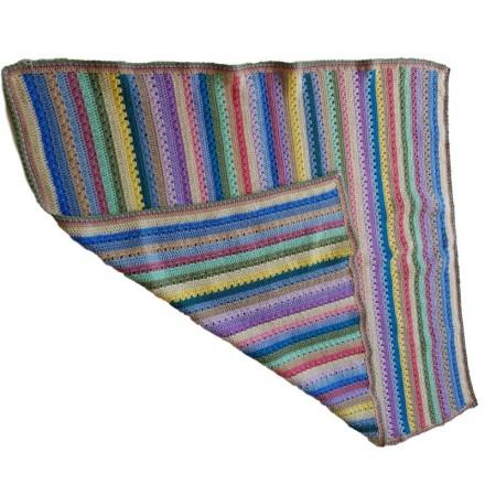 Hand Crochet Multi Stripe Rug
