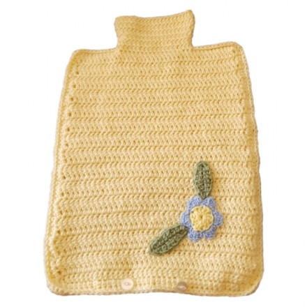 Hot Water Bottle Cover - Hand Crochet Lemon