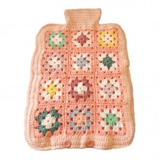 Hot Water Bottle Cover - Hand Crochet, Pinks