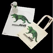 Tassie Devil Tea Towel, Mug & Carry Bag Set
