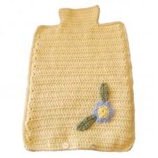 Hot Water Bottle Cover - Hand Crochet Lemon