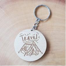 Engraved Keyring Holder - Travel