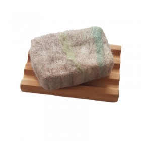 Hand Felted Soap & Huon Pine Soap Holder - Beige & Green