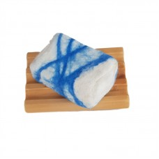 Hand Felted Soap & Huon Pine Soap Holder - Blues
