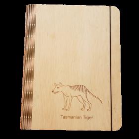 Huon Pine Tasmanian Tiger Notebook Cover