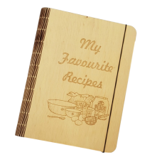 Huon Pine Veneer Recipe Book Cover