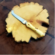 Larger Huon Pine Rustic Cheese Board & Knife