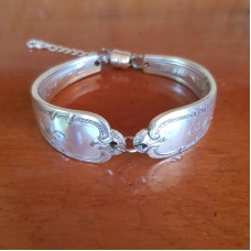 Recycled Vintage Spoon Bracelet - Silver Plated