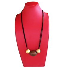 Handcrafted Wooden Bead Necklace