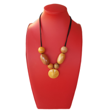 Mixed Wooden Bead Necklace