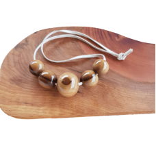 Blackheart Sassafras Wooden Bead Necklace