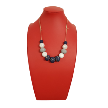 Handcrafted Polymer Clay & Silicone Bead Necklace