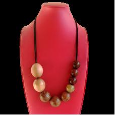 Tamanian Timber Bead Necklace