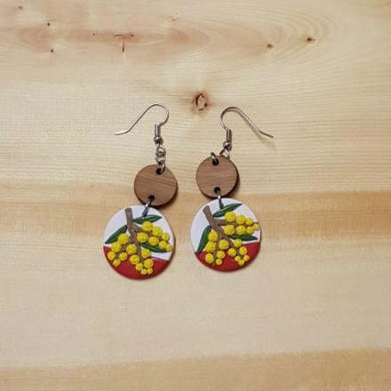 Handcrafted Earrings - Wattle Design