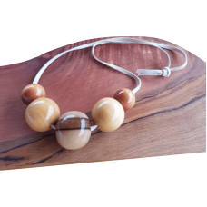 Striking Wooden Bead Necklace