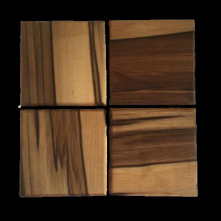 Set of Four Sassafras Coasters